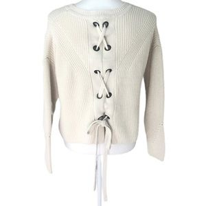 | Lucky Brand | open knit back braided sweater Med